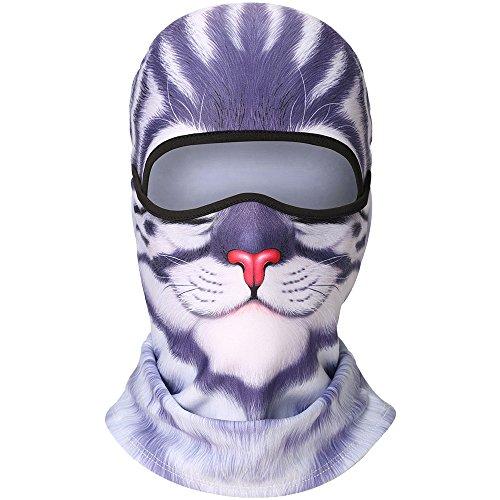 Home 3d Animal Cat Bicycle Hats Balaclava Halloween Snowboard Winter Warmer Windproof Helmet Liner Full Face Mask For Men Women Shrink-Proof