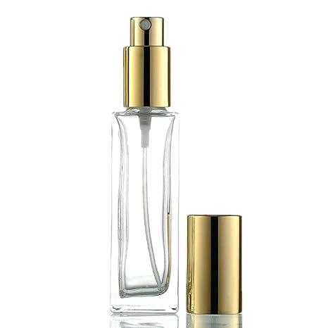 KinderALL Pulverizador Perfume Cristal Pulverizador Perfume Botella Aerosol Maquillaje La Spray Vacía Plástico Respetuosa con El Medio Ambiente De Gold: Amazon.es: Hogar