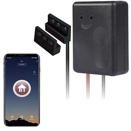 Smart Wi-Fi Garage Door Opener, Wireless Remote Smartphone APP Control,  Compatible with Alexa, Google Assistant and IFTTT, No Hub Needed, Sensor