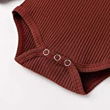 Newborn Baby Boy Girl Clothes Ribbed Knitted Cotton