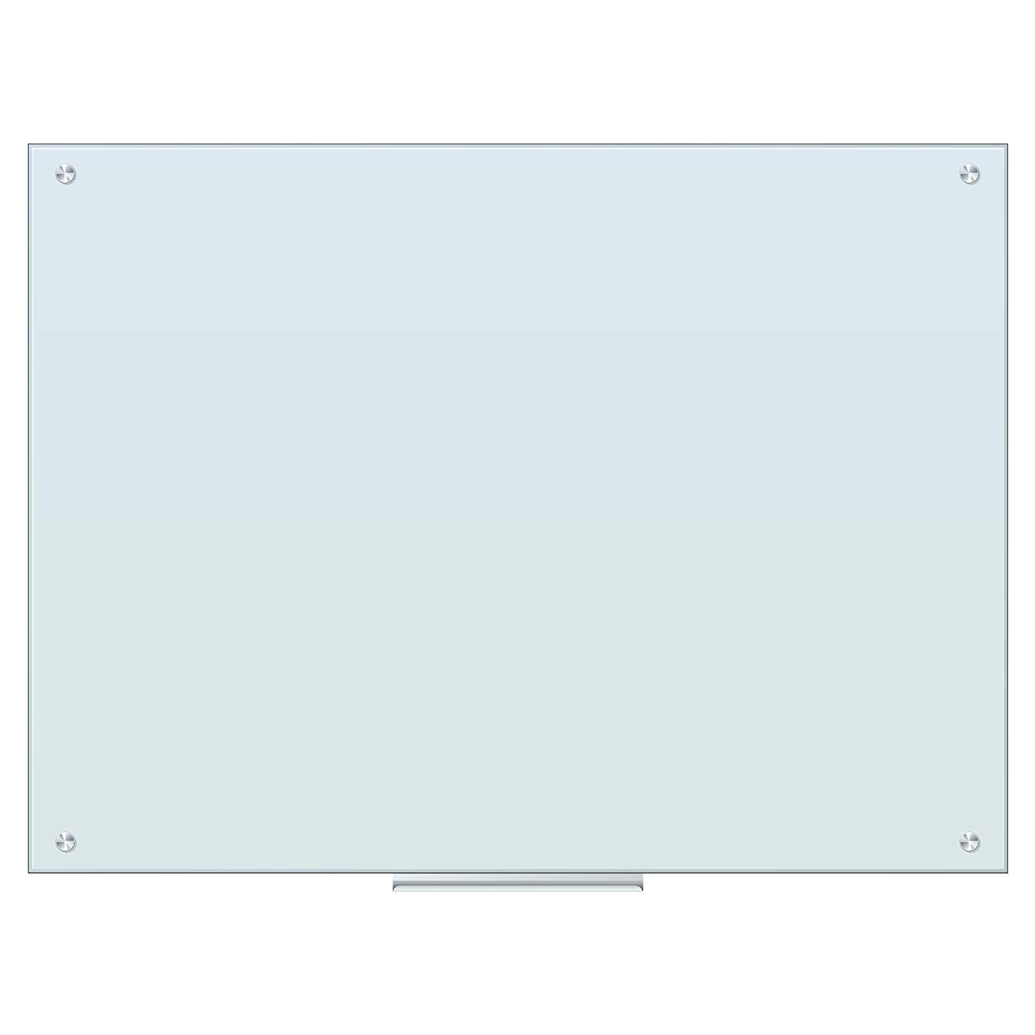 REINDEAR Frameless Magnetic Glass Dry Erase Board (48 x 36 Inches) by REINDEAR