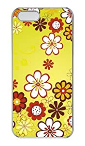 Floral pattern PC Transparent fashion iphone 5S cover for Apple iphone 6 by supermalls