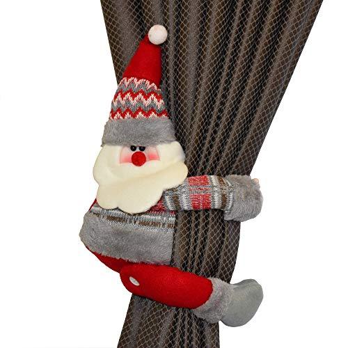 Felitsa Christmas Curtain Buckle - Great Xmas Decoration for Home - Best Idea (Santa)