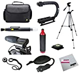 Opteka Videographers Deluxe Filming Kit with VM-100 Microphone, Case, Tripod, X-Grip and More for Canon, Nikon, Sony and Pentax Digital SLR Cameras