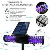 Solarmks Solar Bug Zapper Outdoor Mosquito Killer Lamp with 4 LED UV Bulbs,Wireless Security Outdoor Insect Killer Lamp, Solar Garden Lights