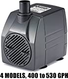 PonicsPump PP53016: 530 GPH Submersible Pump with 16' Cord - 45W… for Hydroponics, Aquaponics, Fountains, Ponds, Statuary, Aquariums & more. Comes with 1 year limited warranty.