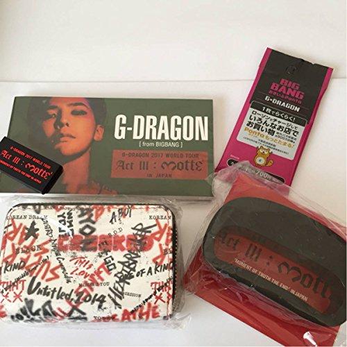 BIGBANG ジヨン G-DRAGON グッズ ミニウォレット & ラバーキーホルダー & フラッシュナックル 他