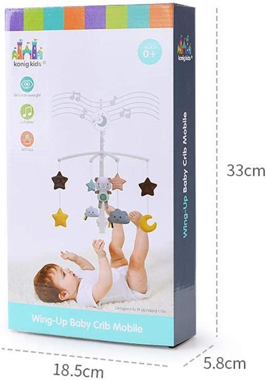 B/éb/é Musique Berceau Mobile Lit Cloche Jouet Infantile Lit D/écoration Jouet Suspendus Cloche Suspendus Hochets Rotation Projection Cadeau