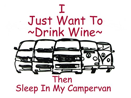 Vw Drink wine and camp tea towel