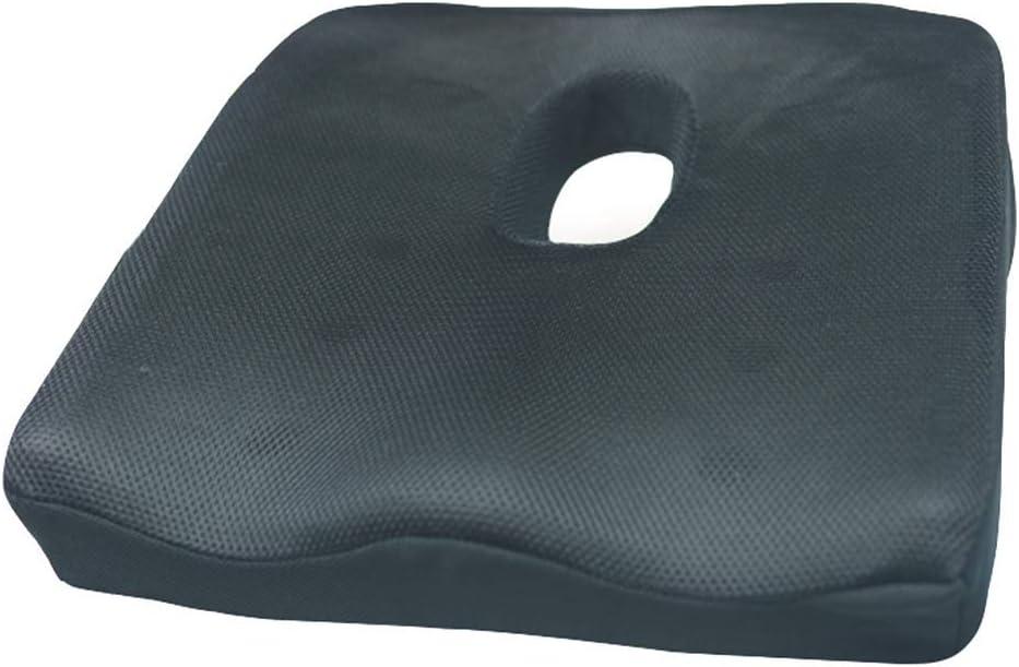 Cojín de asiento de silla de ruedas, cojín de asiento antiescaras, cojín de asiento de gel, cojín de alivio de presión transpirable, para aliviar la espalda, ciática, adecuado para silla de oficina
