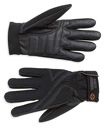 Harley-Davidson Women's Airflow Full-Finger Riding Gloves, Black 98183-07VW (XL)