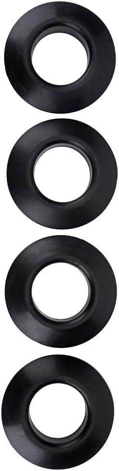 カヤックパドルドリップリング、カヤックカヌーラフティングパドルシャフトのための4本の耐久性のある実用的なゴム製ドリップリング