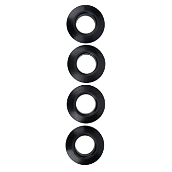 4pcs//lot black kayak canoe paddle drip rings for installing on paddle shaft new.