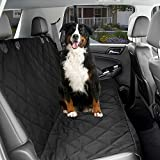 Dog Car Seat Cover – Black Waterproof Non Slip Padded Quilted Protector with Seat Anchors and Heat Straps Review