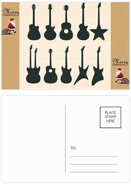 20 tarjetas de agradecimiento para guitarra eléctrica, diseño de ...