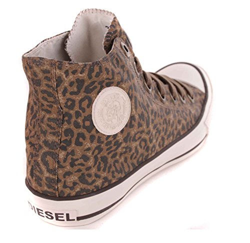 Diesel donna Sneaker High Boots marrone rapina animale look #24