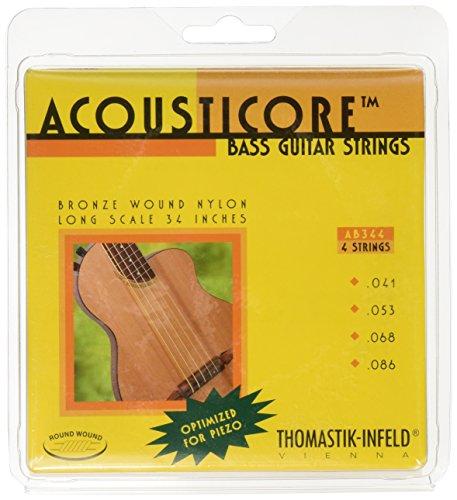 Thomastik-Infeld AB344 Bass Guitar Strings: Acousticore 34-Inch Scale 4 String Set G, D, A, E