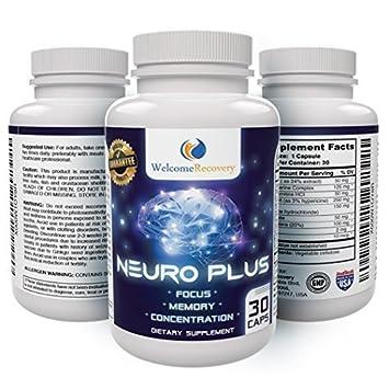 Amazon Com Neuro Plus Brain Supplement Nootropic Boosts Memory
