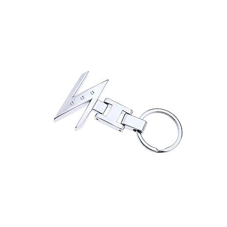 8193fc6758 Auto Z Logo portachiavi ciondolo in metallo argento cromato 3d Chain per  Nissan