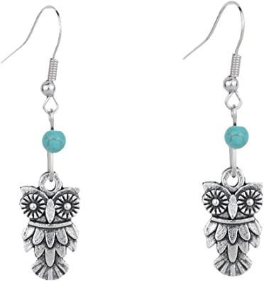 Prom 18K Gold Filled Turquoise Lady Jewelry Dangle Anniversary Drop Earrings
