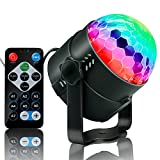 Party Supplies Disco Ball DJ Lights - Sound Activated LED lights with Remote Control RGB Strobe Lamp Stage Light for Home Dance Birthday Bar Karaoke W