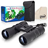 Binoculars Kids – Real, 22x32 High Resolution Child Binoculars Kit Bird Watching, Camping, Outdoor Fun – Learning Gift Boys & Girls – Kids Binoculars, Carrying Case, Cleaning Cloth BCE