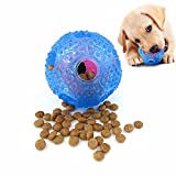 IQ Treat Ball for Dogs, Vipe Dog Treat Dispensing Toy, Dog Chew Toy for Small Medium Large Dogs (Blue)