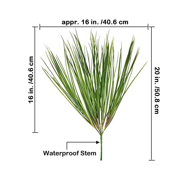 besttoyhome-2-Pcs-Fake-Artificial-Wheat-Grass-Plants-Spray-Faux-Plastic-Onion-Grass-Bundle-in-Green-20-Tall-X16-Wide-Weather-Resistant-for-Outdoor-Indoor-Greenery-Centerpiece-Floral-Wedding-Decor