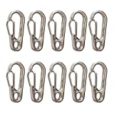 Pasway Hanging Buckle 10Pcs D Shape Mini Spring Backpack Clasps Climbing ...