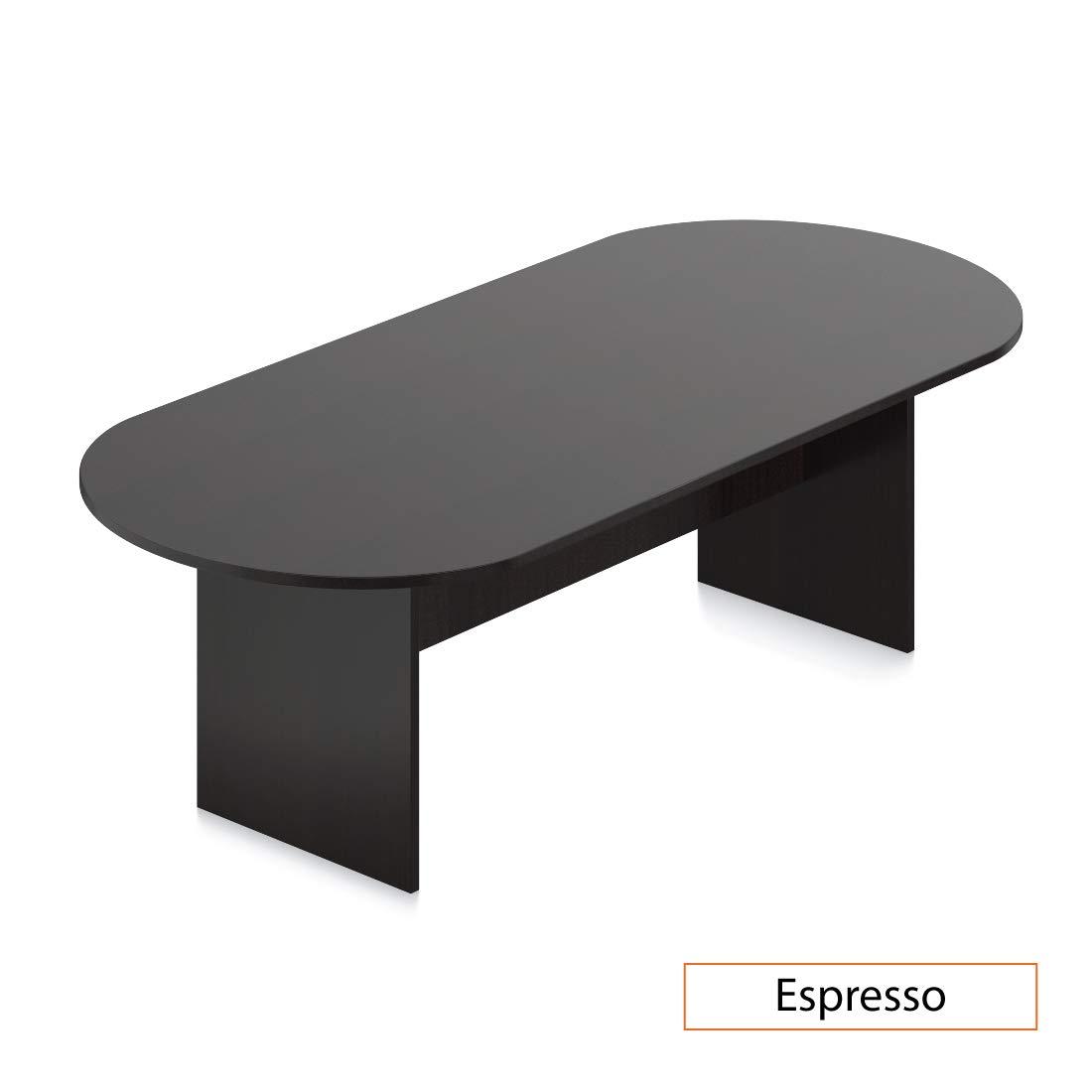 GOF 6FT, 8FT, 10FT Conference Table Chair (G10900B) Set, Cherry, Espresso, Mahogany, Walnut, Artisan Grey (8FT, Espresso)