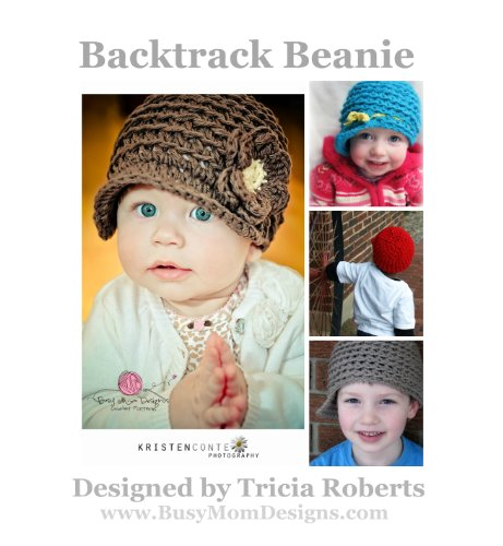Crochet Pattern - Backtrack Beanie: Reversible Newsy Hat - by Busy Mom Designs