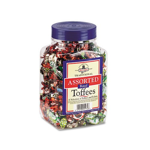 Assorted Toffee, 2.75lb Plastic Tub, Sold as 1 Each