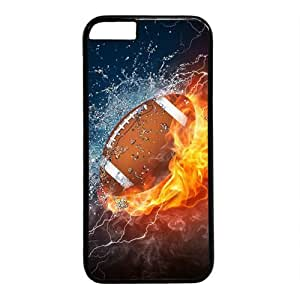 "Football In Water And Fire Theme Case for IPhone 6(4.7"") PC Material Black by icecream design"