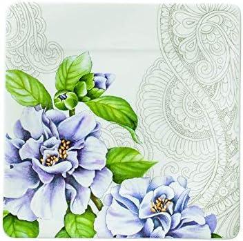 23 x 23 x 2 cm Multicolore Porcellana Bone China Villeroy /& Boch Quinsai Garden Piatto Dessert