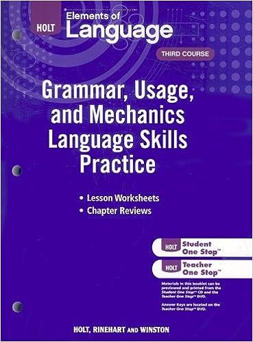 Amazon Elements Of Language Grammar Usage And Mechanics