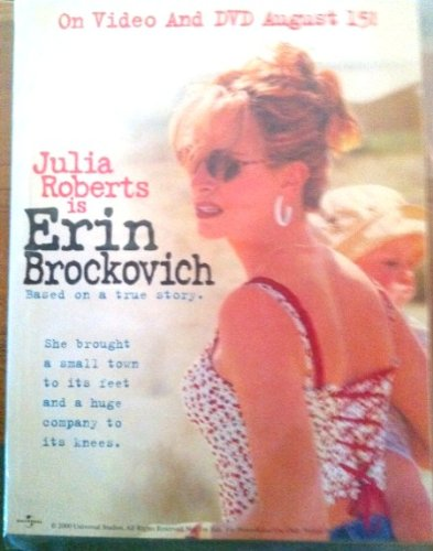 (Erin Brockovich DVD and VHS Promotional Countertop Display - Approx 8 1/2
