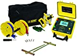 AEMC 4620 4-Point Ground Resistance Tester Kit, 2000 Ohms Resistance, 10mA Current with 150' Leads