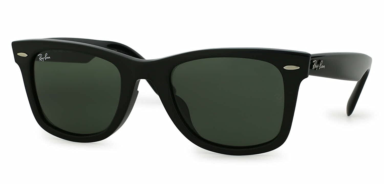 Amazon.com  Ray Ban ORIGINAL WAYFARER ASIAN FIT RB 2140F 901 52mm BLACK  FRAME GREEN G-15XLT  Shoes 4b7dc6f078
