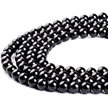 Black Obsidian Gemstone Round Loose Beads Natural Stone Beads For Jewelry Making 4MM 6MM 8MM 10MM 12MM 14MM (8MM)