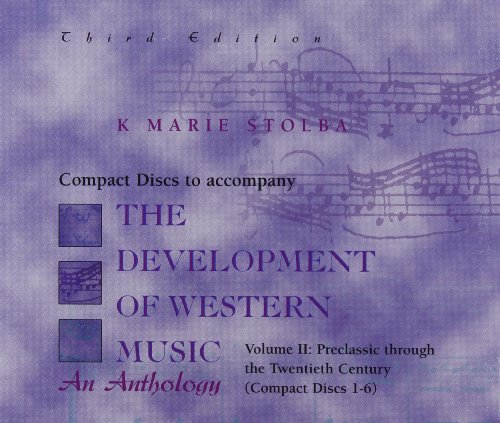 Compact Disc; Vol II for use with The Development Of Western Music (2 Compact Vol Disc)