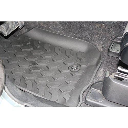 Safaripal Rubber Slush Floor mats Floor Liner Front & Rear Combo set for 2007-2013 Jeep Wrangler Unlimited 4 Door