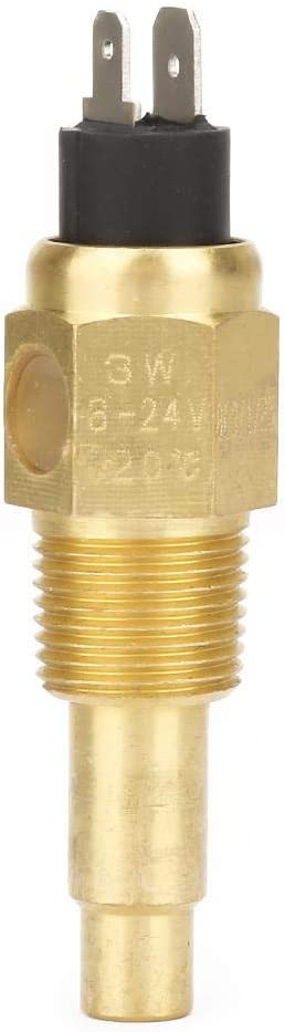 Engine Water Temp Sensor 3//8 NPT 3W 103℃ Brass Engine Water Temperature Sensor Generator Part Fit for VDO
