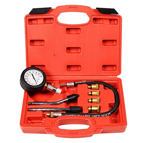 New 8pc Petrol Engine Cylinder Compression Tester Kit Automotive Tool Gauge - Petrol Cylinder