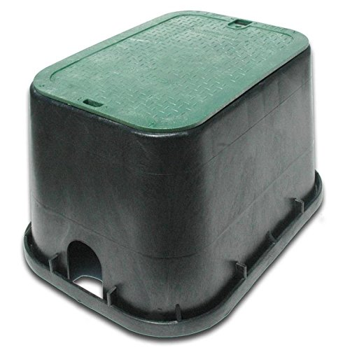 Irrigation Valve Box - NDS 17-in L x 24-in W x 12-in H Rectangular Irrigation Valve Box