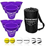BucketBall - Team Color Edition - Combo Pack (Purple/Purple): Original Yard Pong Game: Best Camping, Beach, Lawn, Outdoor, Family, Adult, Tailgate Game