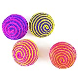 RameyStore 5 Pack Durable Dog Cat Palying Games Cute Toys Pet Rope Ball