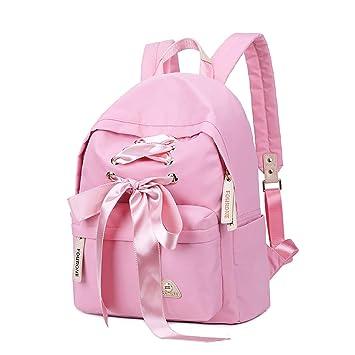 Jansport Superbreak Backpack Estudiante Campus Bag Personalidad Moda Bow Ribbon Wallet Lindo Mochila de Gran Capacidad: Amazon.es: Hogar