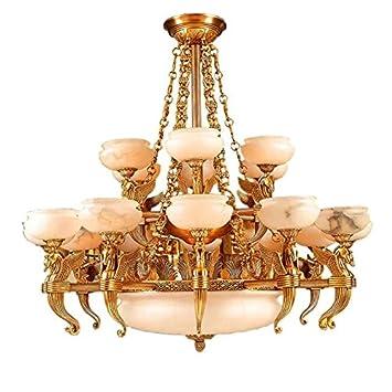 Sungao Amarillo Dorado Todo Cobre lámpara/Lámparas de araña ...