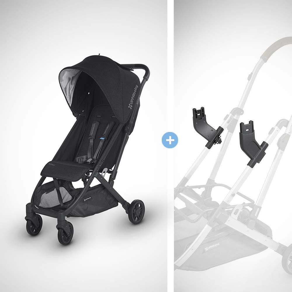 UPPAbaby MINU Stroller + MESA Adapter - Jake (Black Melange/Carbon/Black Leather)