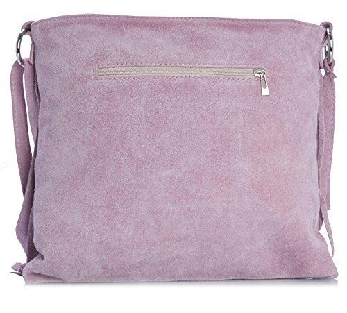 Bag Large Fringe ASHLEY Womens Suede Coral Leather Size Tassle Shoulder Deep LIATALIA IwHqY100